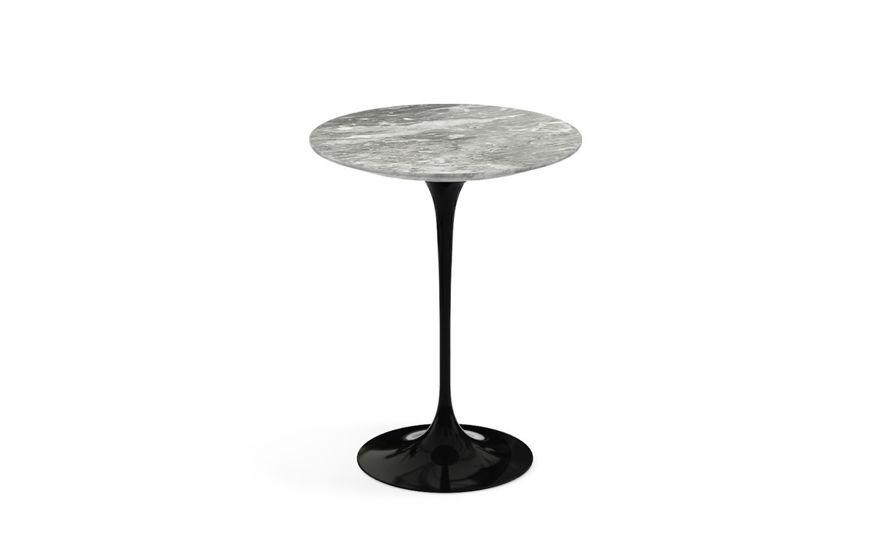 saarinen side table grey marble