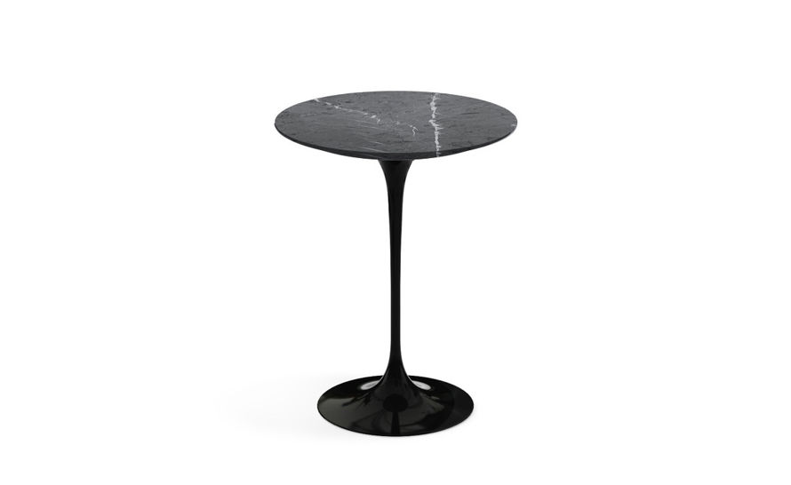 saarinen side table grigio marquina marble