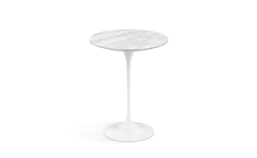 saarinen side table natural marbles