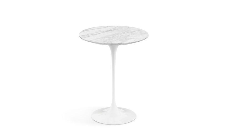 saarinen side table natural marbles