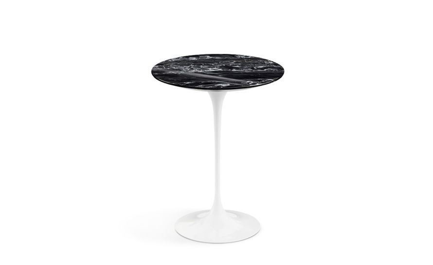 saarinen side table portoro marble