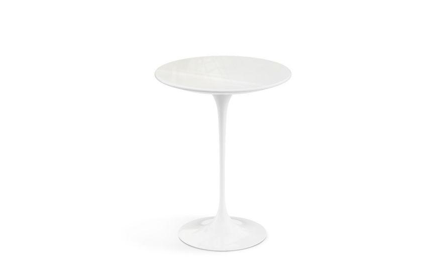 saarinen side table vetro bianco