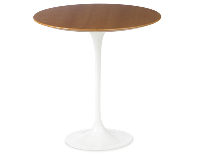 saarinen side table wood veneer