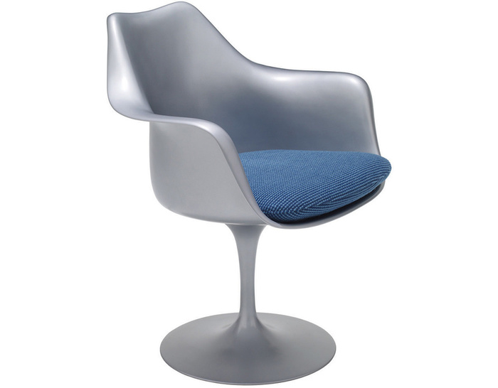 saarinen platinum tulip arm chair
