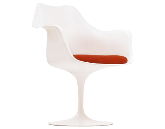 Saarinen White Tulip Arm Chair - hivemodern.com