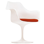 saarinen white tulip arm chair  -