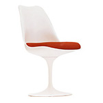 saarinen white tulip side chair  -