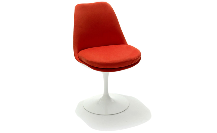 saarinen tulip chair. saarinen tulip side chair fully upholstered