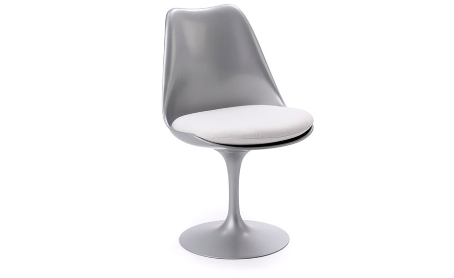 saarinen platinum tulip side chair