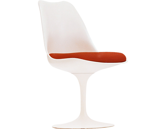 saarinen white tulip side chair - hivemodern