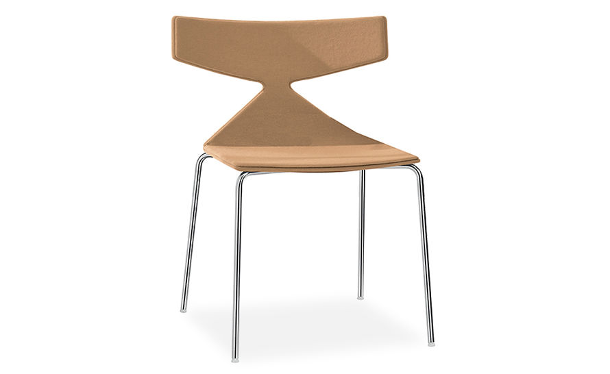 saya chair with metal legs and full upholstery