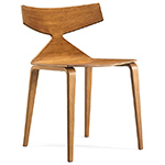 saya chair with wood legs  -