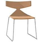 saya sled base chair with full upholstery - Altherr & Molina Lievore - arper