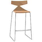 saya sled base stool with full upholstery  -