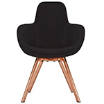 scoop high back chair with steel legs - Tom Dixon - tom dixon