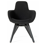 scoop high back chair with wood legs - Tom Dixon - tom dixon