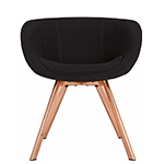 scoop low back chair with steel legs