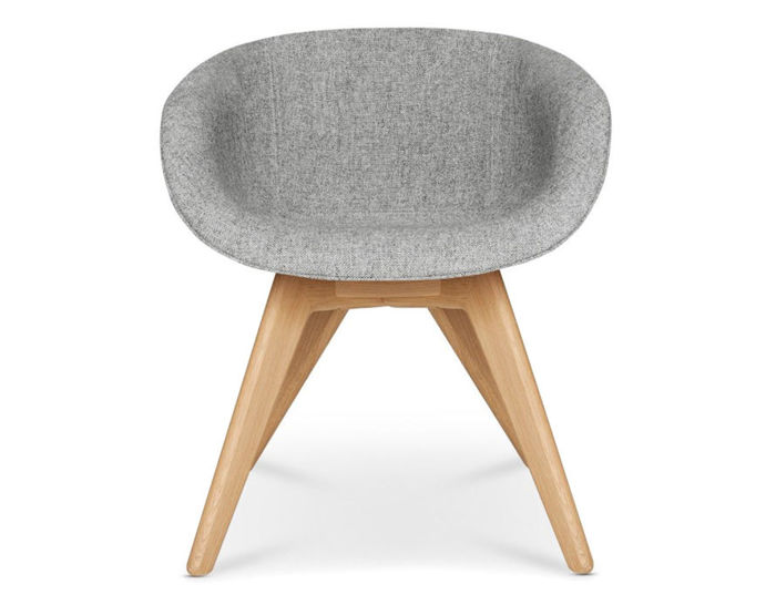 Scoop Low Back Chair With Wood Legs