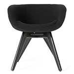 scoop low back chair with wood legs  -