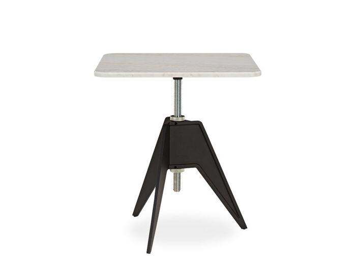screw cafe table with square top