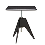 screw cafe table with square top  -