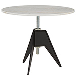 screw cafe table with round top  -