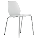 selinunte 4-leg stacking chair  -