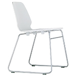 selinunte sled base stacking chair  -