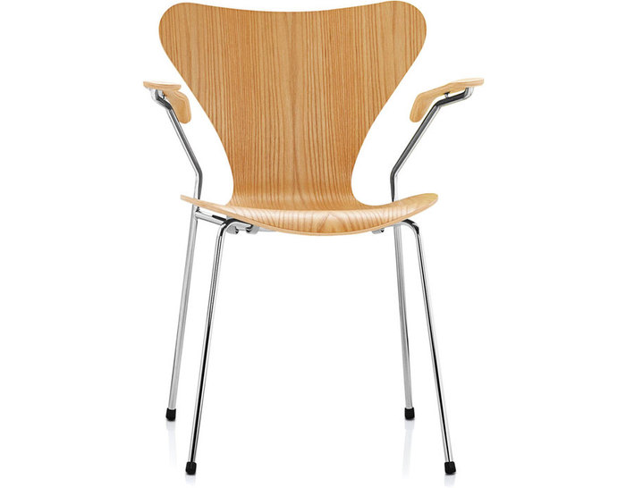 series 7 arm chair - wood veneer