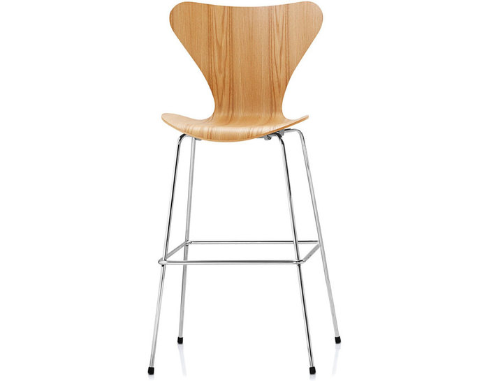 series 7 stool wood veneer