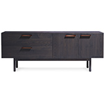 shale 2 drawer / 2 door dresser  -