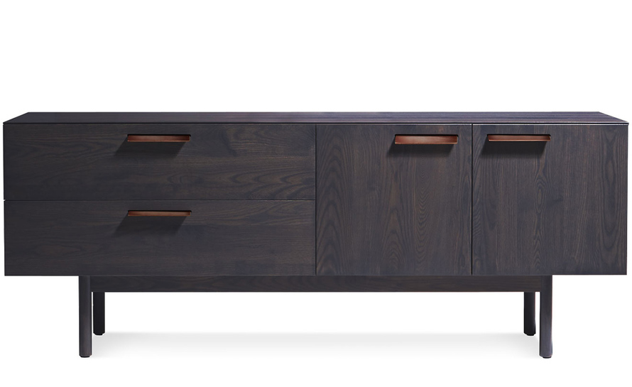 shale 2 drawer / 2 door dresser
