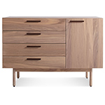 shale 4 drawer / 1 door credenza  - blu dot