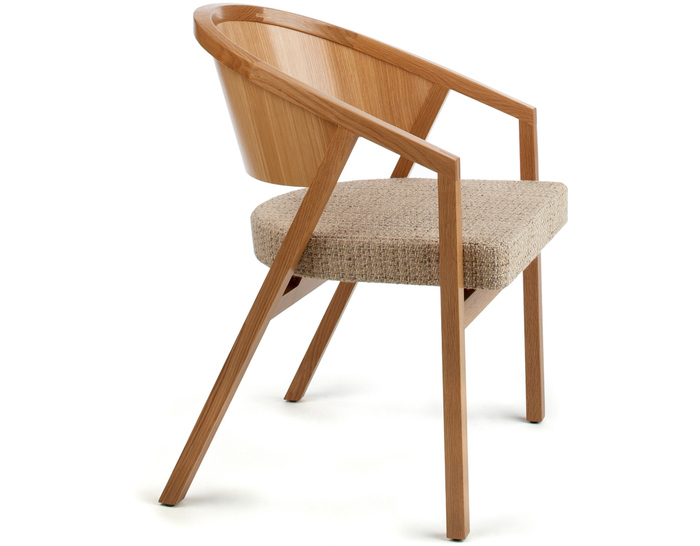 shelton mindel arm chair with upholstered seat