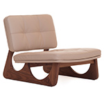 sledge blind tufted lounge chair 274  -