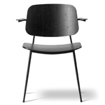 soborg steel base armchair  -