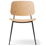soborg steel base chair - Borge Mogensen - Fredericia