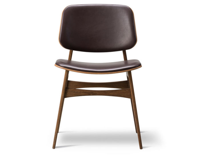 soborg upholstered seat & back chair with wood base