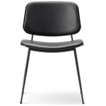 soborg upholstered seat & back chair with metal base  -