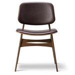 soborg upholstered seat & back chair with wood base  -