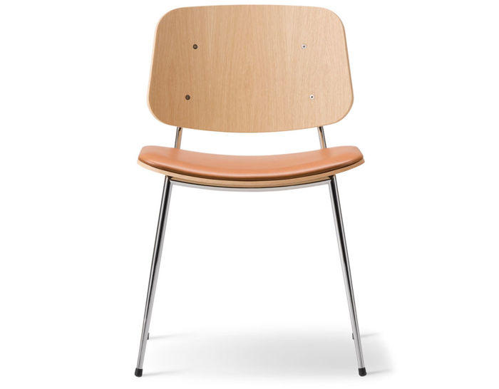 soborg upholstered seat chair with metal base