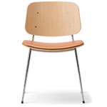 soborg upholstered seat chair with metal base - Borge Mogensen - Fredericia