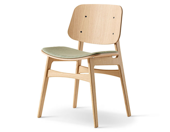 soborg upholstered seat chair with wood base