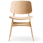 soborg upholstered seat chair with wood base - Borge Mogensen - Fredericia