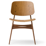 soborg wood base chair - Borge Mogensen - Fredericia