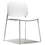 sonar upholstered stacking chair  -