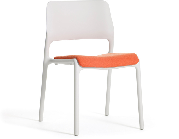 spark stacking side chair with seat pad