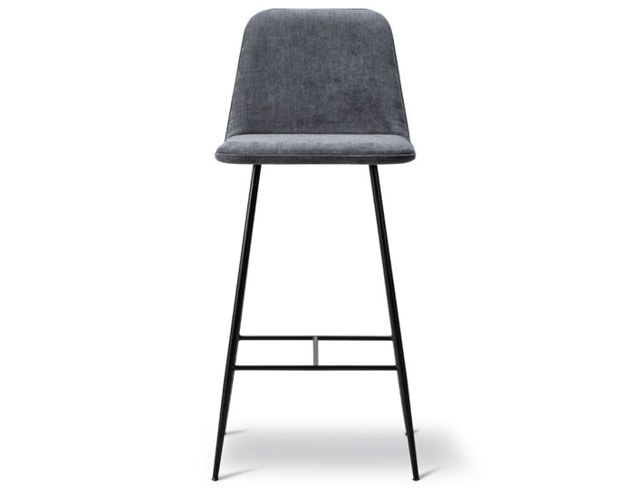 spine metal base stool with back