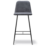 spine metal base stool with back  - Fredericia