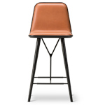spine wood base stool with back  - Fredericia